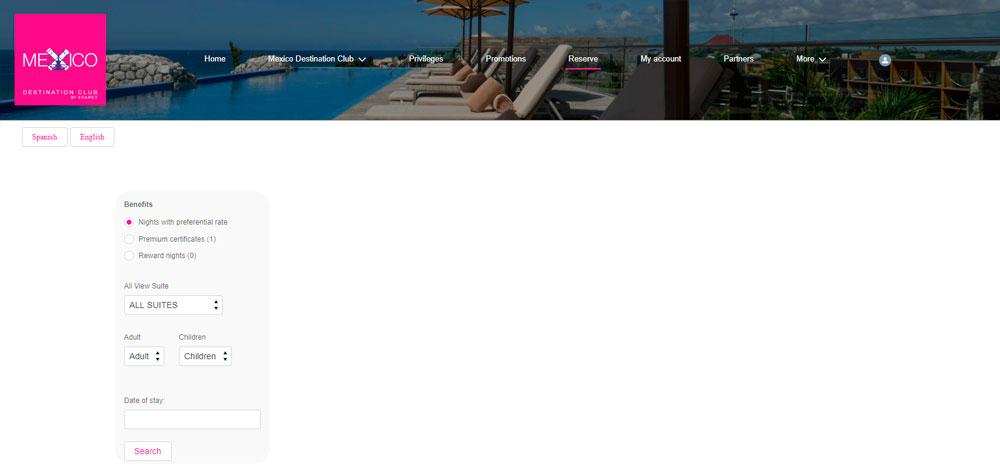 Web México Destination Club | Reserve
