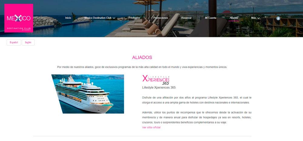 Web México Destination Club | Aliados