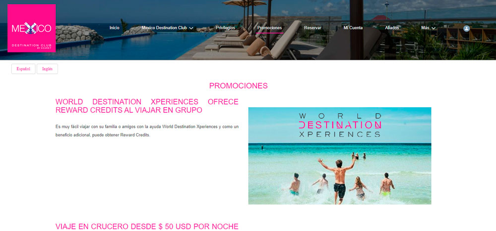 Web México Destination Club | Promociones