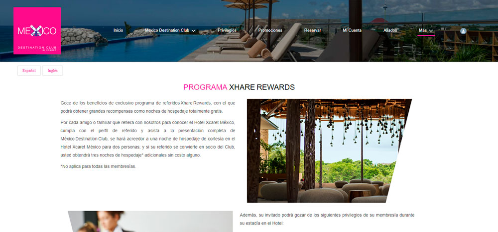 Web México Destination Club | Referidos