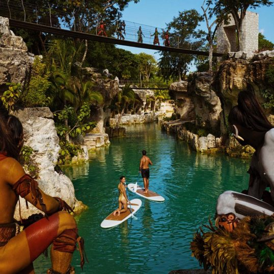 Paddleboarding Hotel Xcaret Mexico Destination Club