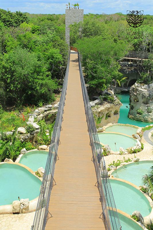 Foto Xelfie Puente Pozas - Hotel Xcaret Mexico - Mexico Destination Club